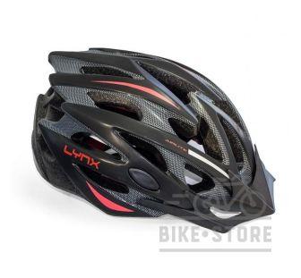 Велошлем Lynx Les Gets Matt black-red
