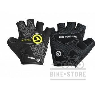 Велоперчатки KLS COMFORT черный-лайм