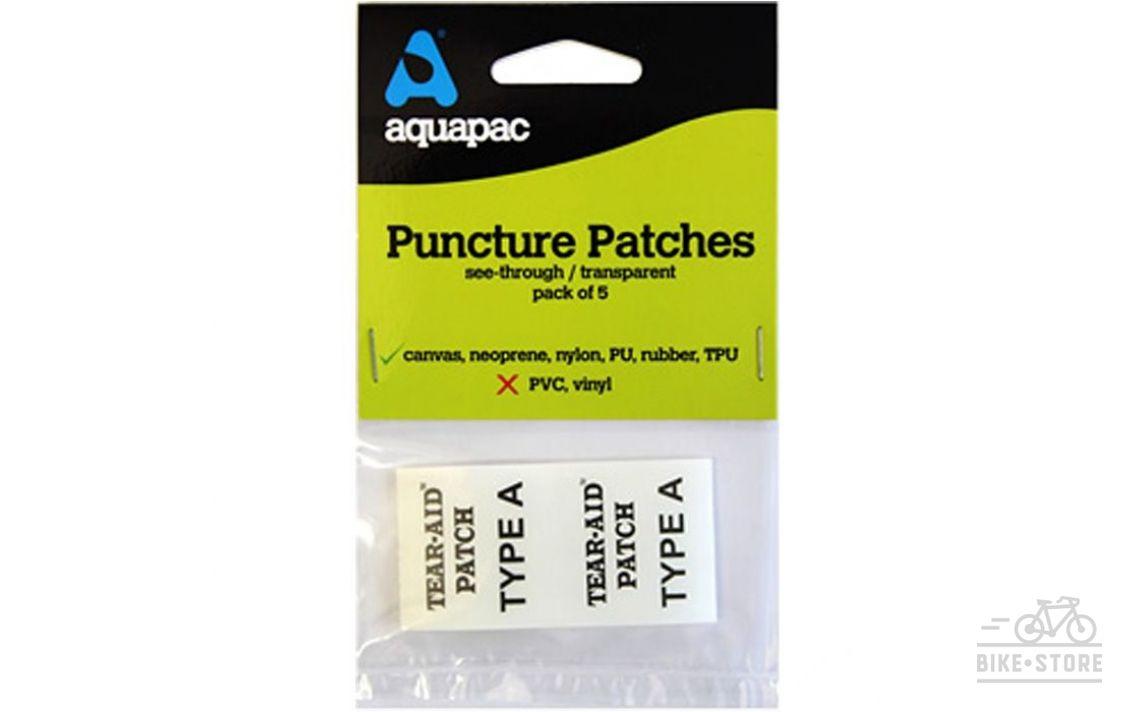 Ремнабор Aquapac 5 клеевых латок для Canvas, Neoprene, Nylon, PU, Rubber, TPU.