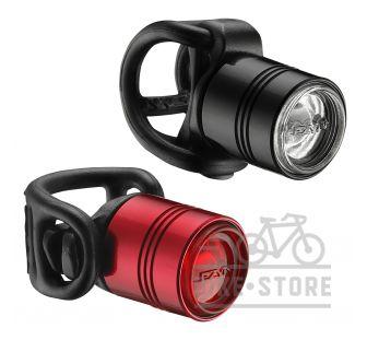 Свет комплект Lezyne фара передняя + задняя LED FEMTO DRIVE PAIR, черный