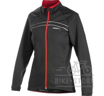 Велокуртка Craft 1902998 AB Siberian Jacket W 9430 Black/Bright Red